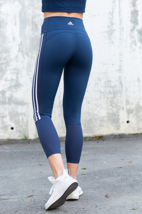 Believe This 2.0 3-Stripes Ribbed 7/8 Tights-40952