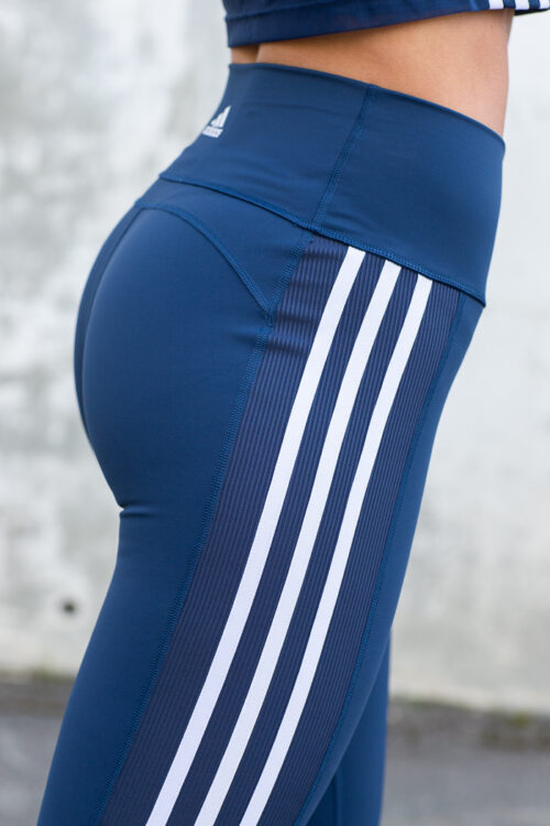 Believe This 2.0 3-Stripes Ribbed 7/8 Tights-40954