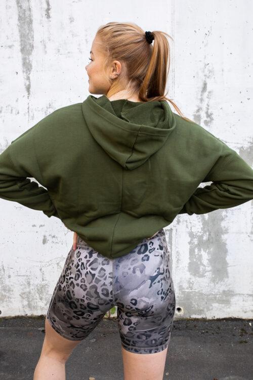 adidas Sportswear Leopard-Print Oversize Hoodie