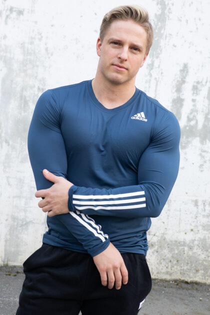 adidas 3tshop Techfit 3-Stripes Fitted Long Sleeve Top herre treningsklær genser