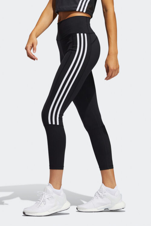 Believe This 2.0 3-Stripes Ribbed 7/8 Tights-37124