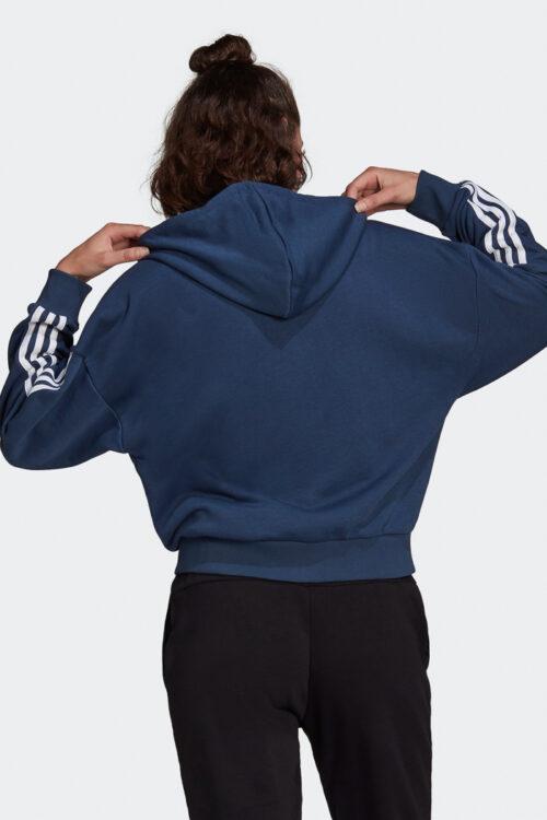 adidas Essentials Cut 3-Stripes Full-Zip Hoodie-37860