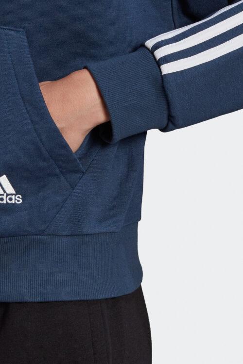 adidas Essentials Cut 3-Stripes Full-Zip Hoodie-37861