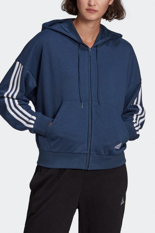 adidas Essentials Cut 3-Stripes Full-Zip Hoodie-37862