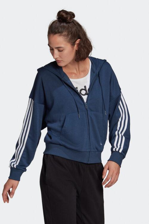adidas Essentials Cut 3-Stripes Full-Zip Hoodie-37863