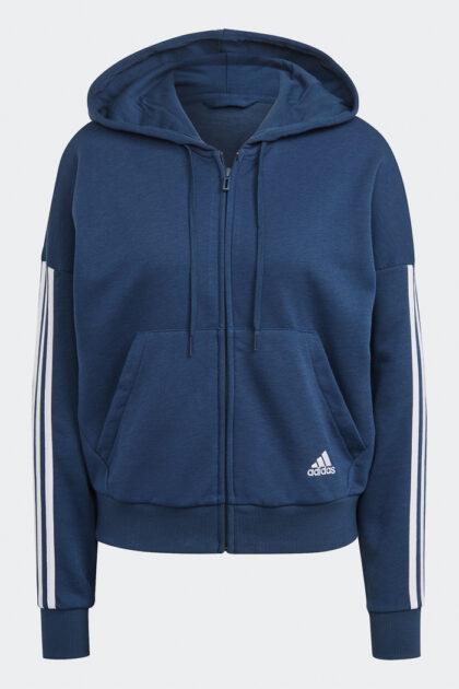adidas Essentials Cut 3-Stripes Full-Zip Hoodie-37866