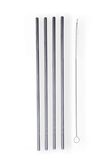 4-pack Stainless Steel Straw set 3tshop Glacial stålsugerør miljøbevisst