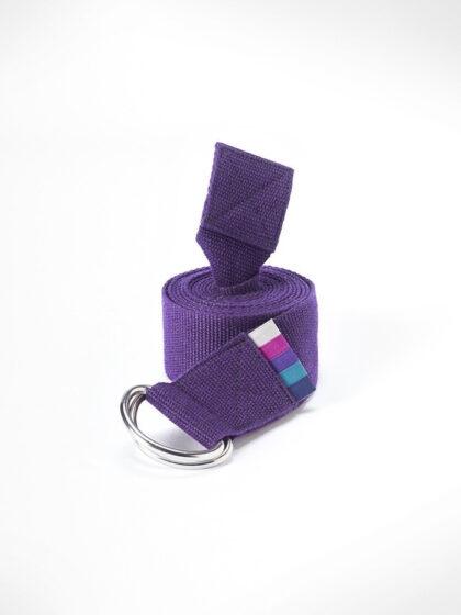 3Tshop yogautstyr yogamatters D-ring Yogastropp-Purple