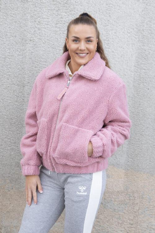 Svea Rome Pile Jacket Dusty Pink
