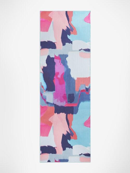 Yogamatters Grippy Yoga Mat Towel-Urban Camo Fuchsia