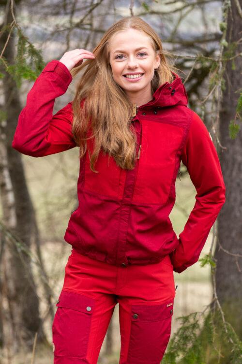 Fjällräven Keb Jacket Women 3Tshop.no red rød