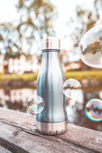 Glacial Stainless Steel Bottle Metallic Blue 260ml