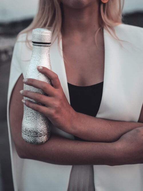Glacial Stainless Steel Bottle Silver 400ml