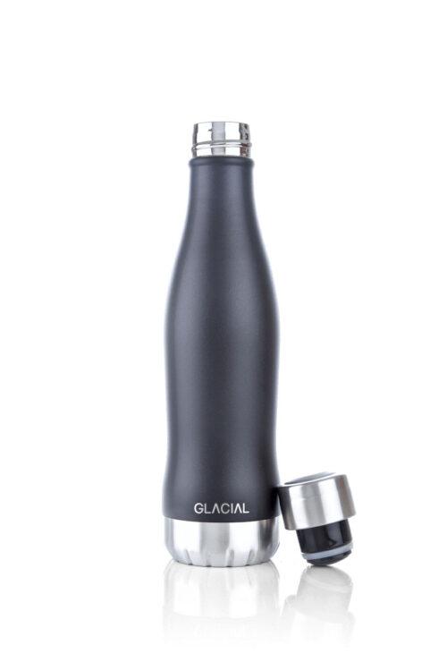 Stainless Steel Bottle Mat Black 400ml-18272