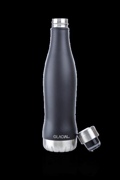 Glacial Stainless Steel Bottle Mat Black 600ml
