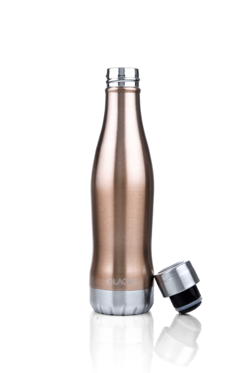 Glacial Stainless Steel Bottle Rosé Gold 400ml