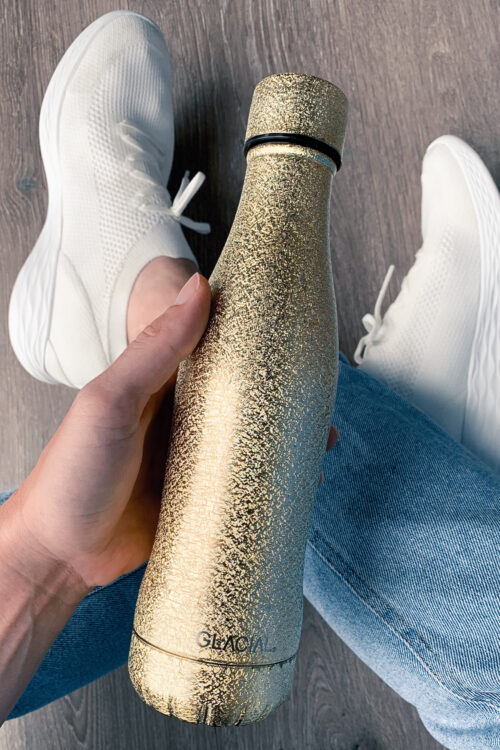 Glacial Stainless Steel Bottle Gold 400ml