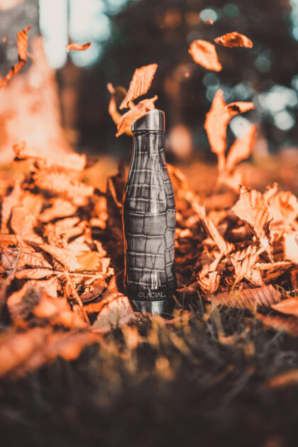 Glacial Stainless Steel Bottle Bubble fizz 400ml