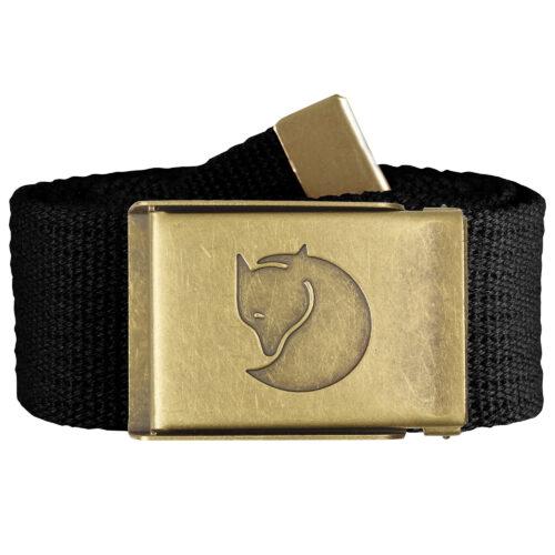 Canvas Brass Belt 4 cm Black-35094