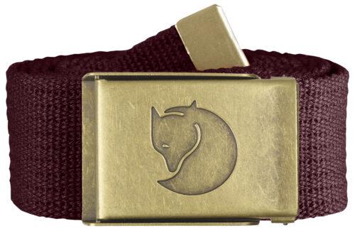 Canvas Brass Belt 4 cm Dark Garnet