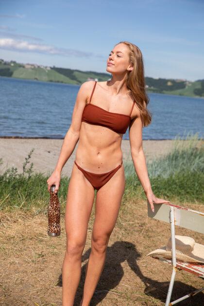 Casall Shiny Rib Bikini Bandeau