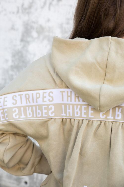3-Stripes Wording Full-Zip Hettegenser