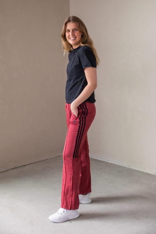 adidas New Authentic Wide Leg Bukse joggebukse 3tshop dame rød