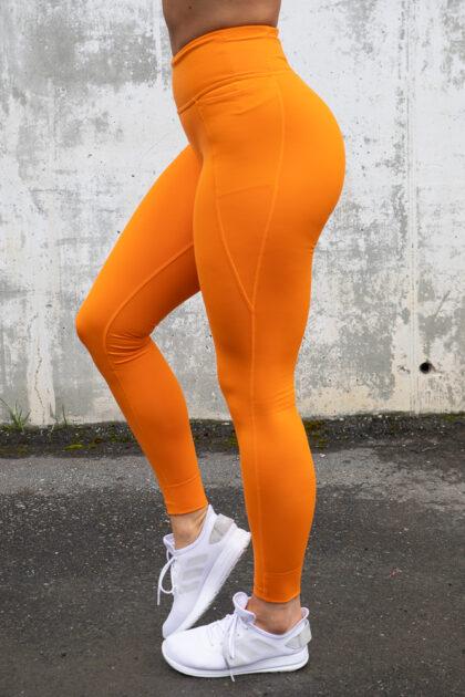 Lux 2 Tights Reebok Orange Bestselger 3Tshop.no