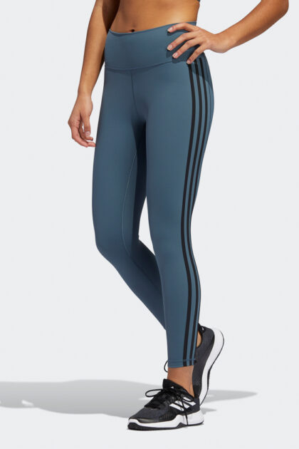 adidas blue Believe This 2.0 3-Stripes 7/8 Tights 3Tshop.no