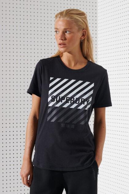 Superdry Training Core Sport Tee Tskjorte treningstopp dame