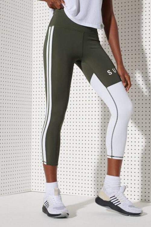 Superdry Training Graphic 7/8 Leggings 3Tshop.no treningstights klær dame grønn tights