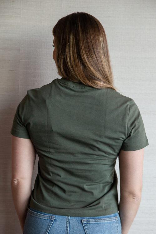 T-shirt classic by Biderman grønn tee dame 3Tshop.no