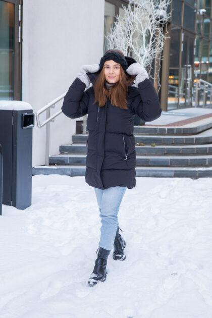 3tshop hellyhansen W Adore Puffy Parka sort vinterjakke