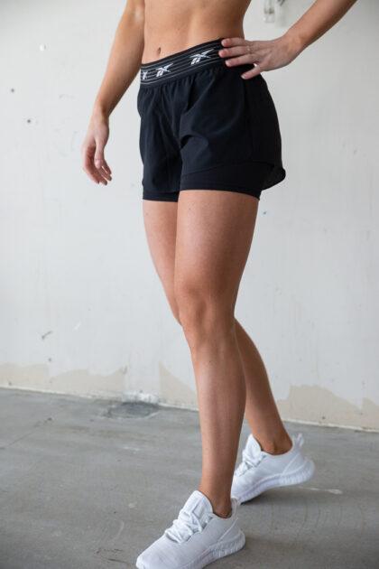 3tshop.no reebok Epic Two-in-One Shorts treningsshorts dame sort kort shorts