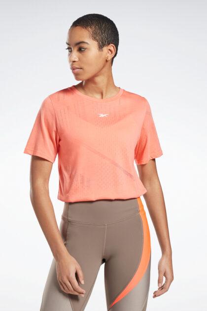 3tshop reebok Burnout Tee treningskjorte tskjorte tee oransje rosa peach fersken korall