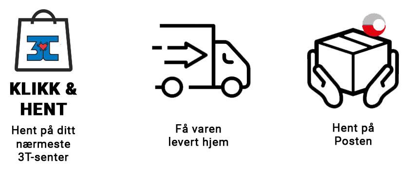 rask levering 3Tshop.no frakt og levering hele Norge