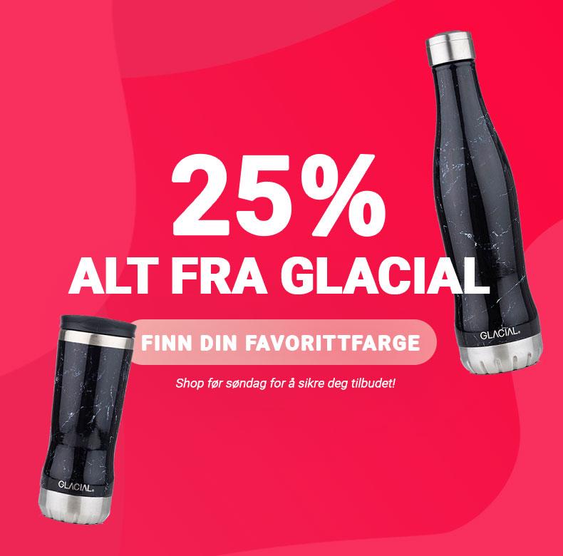 Glacial bottle salg 3Tshop.no drikkeflaske stålflaske